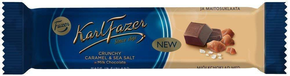Primary image for Karl Fazer Crunchy Caramel Seasalt, milk chocolate 35 Bars 1.3kg / 46oz