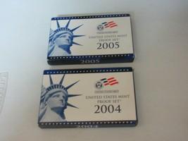 U.S. Mint , 2004 & 2005 Proof Set with 5 State Quarters , Original Packa... - $21.78
