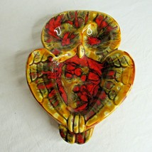 Ceramic Splatter Owl Candy Trinket Jewelry Dish or Wall Hanging Vintage  - $29.67