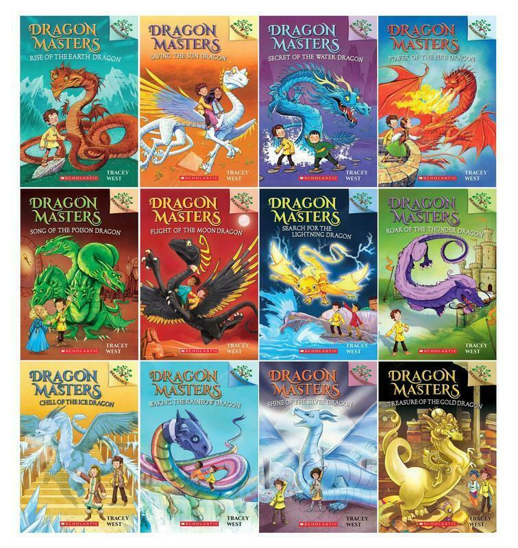 Primary image for Scholastic Branches DRAGON MASTERS Childrens Series by Tracey West Book Set 1-12