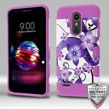 Purple Flower Romance/Purple TUFF Trooper Hybrid Cover for LG K30/Premie... - $11.39