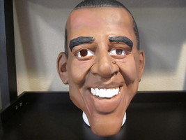 DELUXE BARACK OBAMA 44TH US PRESIDENT MASK ADULT HALLOWEEN COSTUME Party... - $25.00