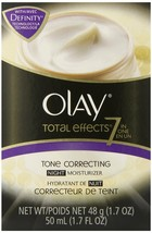 Olay Total Effects 7-In-1 Tone Correcting Night Moisturizer, 1.7 fl. Oz.... - $18.80