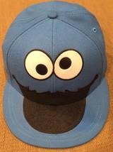 Sesame Street Adult Unisex Cookie Monster Flat Bill Cap Small Medium Woo... - $14.01