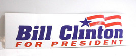 "Vintage 1992 Democrat ""BILL CLINTON FOR PRESIDENT""  Unused Bumper Sticker - $6.04"
