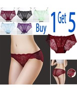 5-pack Women Bikini Panties Underwear Hipster Panties Sexy Lace Briefs f... - $15.98