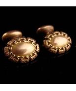 Antique Greek Key cufflinks - Victorian stud set - hallmarked jewelry et... - $285.00