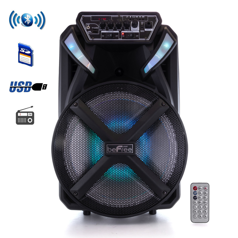 Primary image for beFree Sound 12 Inch BT Portable Rechargeable Party Speaker