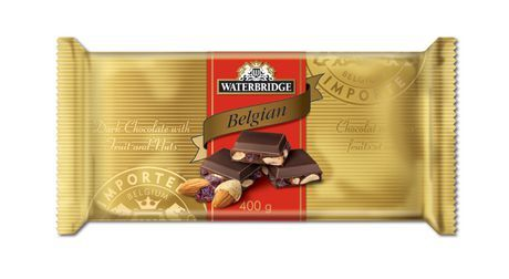 Primary image for Waterbridge Belgian Dark Chocolate with Fruit & Nuts 8 Bars x 400g Canadian
