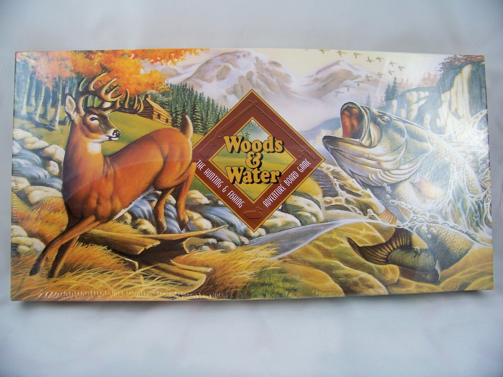 Primary image for Woods and Water Hunting & Fishing Board Game Adventure Wildlife Birthday Gift
