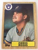 #448 Chris Bosio 1987 Topps Baseball - $1.75