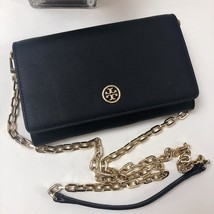 Tory Burch Robinson Chain Crossbody Bag Black Authentic - $225.00