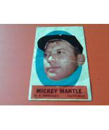 1963  TOPPS    MICKEY  MANTLE    PEEL OFF   GOOD +   !! - $54.99