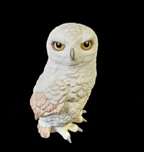 Boehm Snowy Owl Figurine Vintage FREE SHIP - $47.50