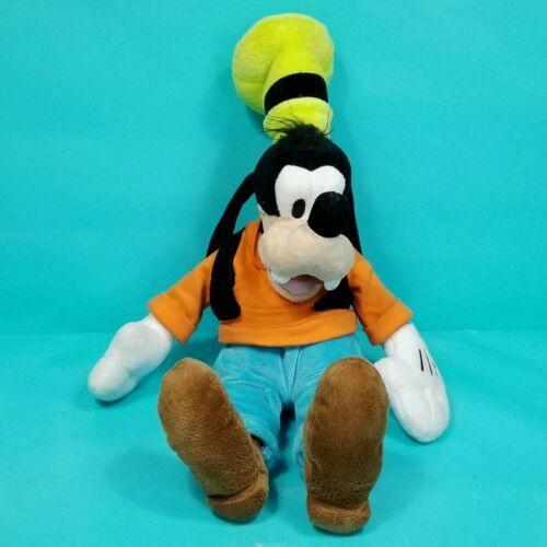 "Disney Goofy Plush Stuffed Animal Orange Shirt Blue Pants Green Hat 16"" - $17.81"