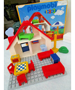 PLAYMOBIL 123 Doll House # 6802 Partial Play Set in original box dated 1999 - $17.81