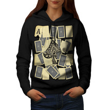 Ace of Spades Card Casino Sweatshirt Hoody Gamble Art Women Hoodie - $21.99+