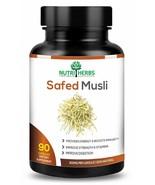 Nutriherbs 100% Natural & Organic Safed Musli 800 Mg 90 Capsules (Pack O... - $15.84