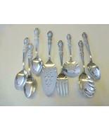 8 HERITAGE 1847 Rogers Bros PIE Cake TOMATO Slotted SPOON Meat FORK  CAS... - $91.08