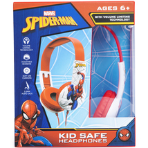 Marvel Spiderman Kid Safe Headphones (HP-0062-SPIDERM)