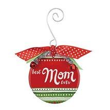 Demdaco Mom Patterned Ceramic Ornament 3.5 Inches Diameter Decorative Ha... - $17.33