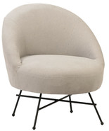 Mid Century Modern Chair Pastel Gray Accent Retro Fabric Home Furniture - $688.05