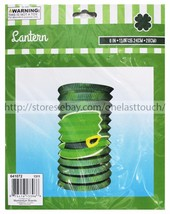 MOMENTUM* St Patricks Day Decor GREEN LANTERN Party Decorations w/LEPREC... - $4.00