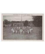 Flag Raising St Mary's Camp Memphis Michigan postcard - $6.44
