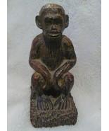 Monkey Ape Bookend set Carved Handmade Design Home Library Shelf Decor - $74.99