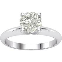 2ct Forever Classic Moissanite Diamond Solitaire Engagement Ring 14k Whi... - $459.37