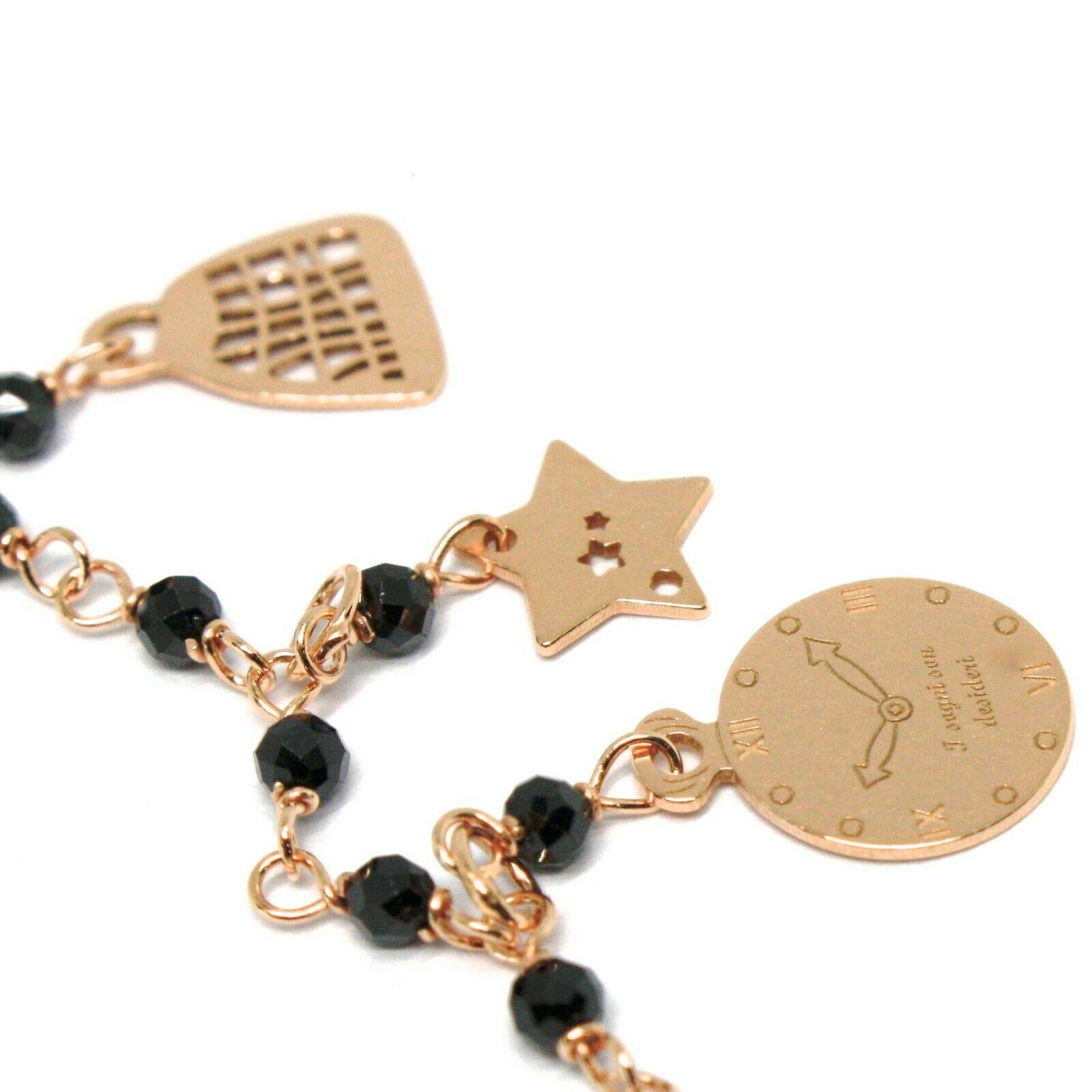 Armband und Anhänger Silber 925, Mary Tasche Regenschirm Hut Sterne, Le Favole image 4