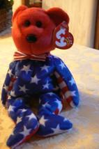 "Vintage Ty Beanie Babies Liberty "" The Bear "" Hang Tag 2001/Tush Tag 2002 Errors image 1"