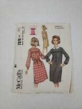 1965 Vintage MCCALL'S 7876 Misses' Junior Dress Size Medium 12-13-14  - $8.50