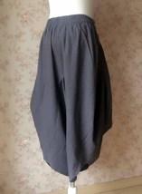 Women Gray LINEN PANTS Wide leg Linen Cotton pants Casual Cozy Pants Harem Pants image 3