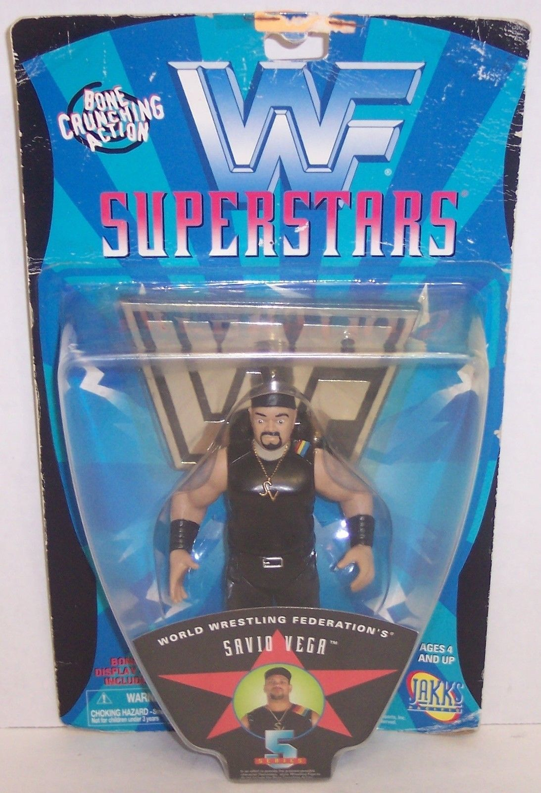 "Primary image for New! 1997 Jakk's Pacific WWF Superstars ""Savio Vega"" Action Figure WWE [843]"