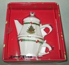 "Pfaltzgraff ""Christmas Heritage"" Tea for One - Tea Pot & Cup - NIP - $28.98"