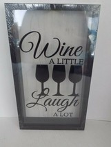 Wine Cork Holder Shadow Box Wall Mounted Wine A Little Laugh A Lot - $29.65