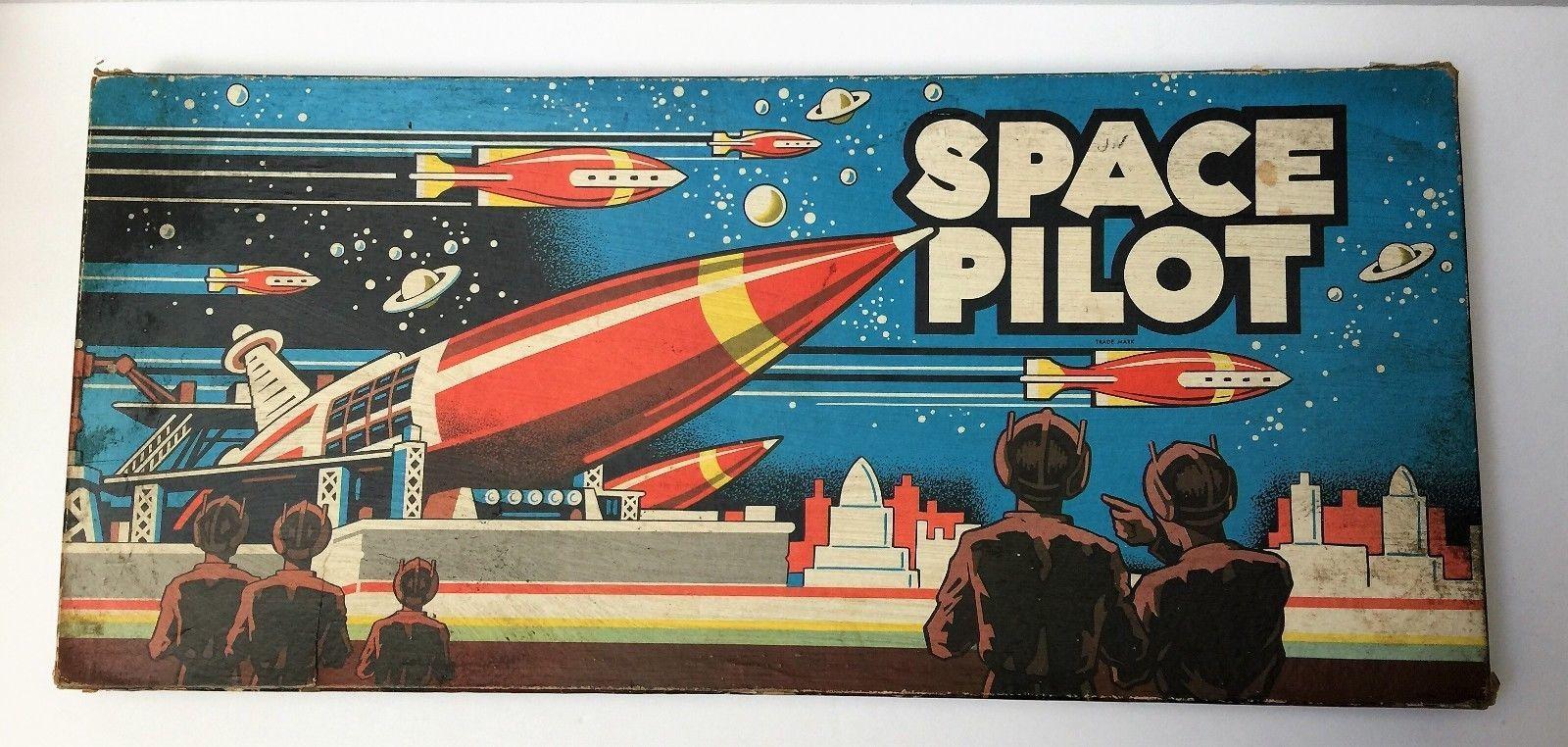 VTG Vintage 1951 Space Pilot by Cadaco Ellis Board Game HARD TO FIND HTF image 2