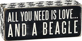 Primitives by Kathy Paw Print Trimmed Box Sign, 2.5-Inch by 6-Inch, Beagle - $11.95