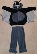 Old Navy Black Bat Fleece Costume Size 2T-3T Toddler 2-Piece Top Pants - $39.55