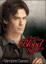 The Vampire Diaries TV Series Damon Blood Type? Refrigerator Magnet NEW ... - $3.99