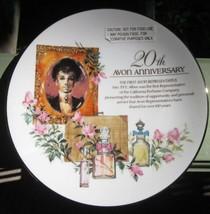 AVON 20th ANNIVERSARY PORCELAIN PLATE DISH 1st SALES WOMAN VICTORIAN SCE... - $9.49