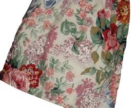Ralph Lauren Allison Floral Twin Ruffled Bedskirt Multi-color Flowers USA Made - $26.70