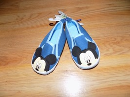 Infant Size 6-9 Months Disney Baby Blue Mickey Mouse Crib Shoes New  - $12.00