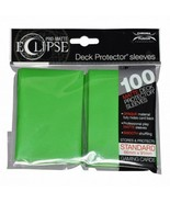 Ultra PRO Matte ECLIPSE Lime Green Deck Protector Sleeves 100ct ULP85606 - $11.75