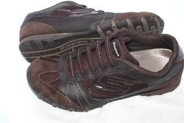 SKECHERS SZ 7 BIKERS VEXED Women's Brown  Low-Top Sneakers  - £11.73 GBP