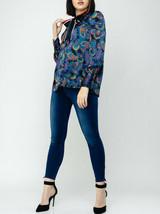 Tommy Hilfiger Womens Blake WW0WW26833 Blouse Multicolour UK 8 - $68.69