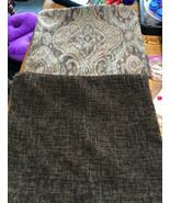 Pair of Brown Beige Print Chenille Decorative Throw Pillows 18 x 18 - $49.95