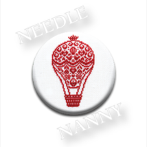 Le Balloon Needle Nanny cross stitch JBW Designs   - $12.00
