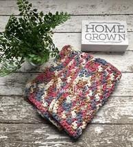 Handmade Kitchen Dishcloths Rose Beige Gray Grey Dish Cloth Cotton Set of 3 - $18.50